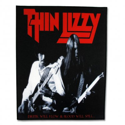 Thin Lizzy - Drink Will Flow & Blood Will Spill Back Patch