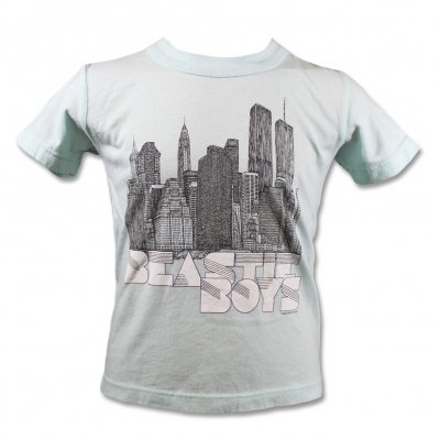 beastie-boys - NY Skyline Sketch Toddler Tee (Light Blue)