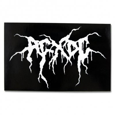ACxDC - Metal Logo Sticker (3x4)