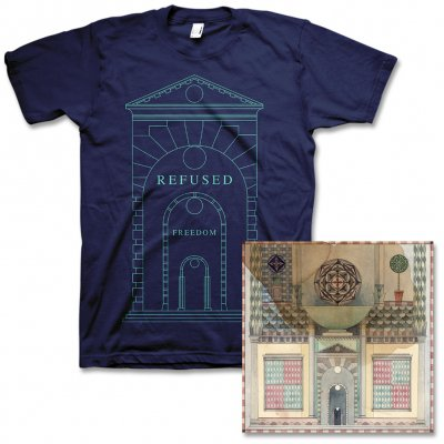 Refused - Freedom CD & Arch Mens or Womens Tee Bundle