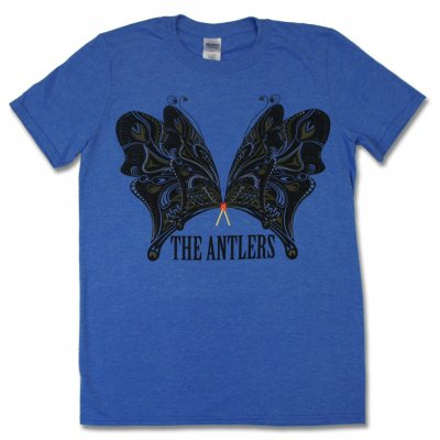 The Antlers - Butterflies T-Shirt (Heather Royal Blue)