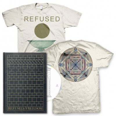 Refused - Deluxe Freedom CD & Chalice Tee (Natural) Bundle