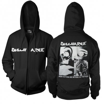Discharge - Hear Nothing Say Nothing Zip Up (Black)