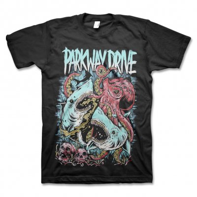 Parkway Drive - Sharktopus Shirt (Black)