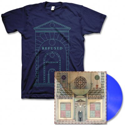 Refused - Freedom LP (Blue) & Arch Tee - Men's or Women's