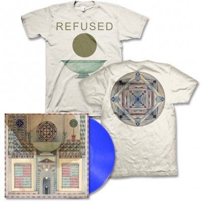 Refused - Freedom LP (Blue) & Chalice (Natural) Tee Men's