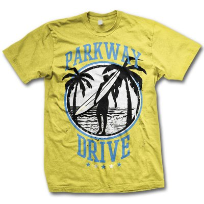 Parkway Drive - Surfer Tee (Yellow)