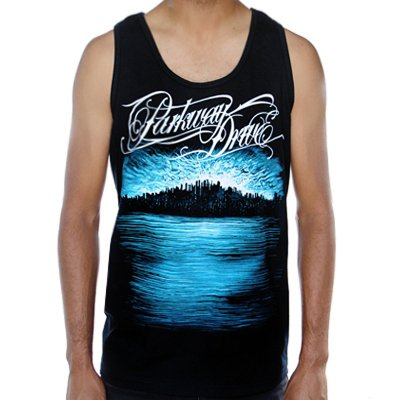 Parkway Drive - Deep Blue Skyline Tank Top (Black)