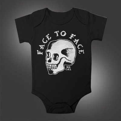 face-to-face - So Cal Skull Onesie (Black)
