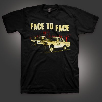face-to-face - Race T-Shirt (Black)