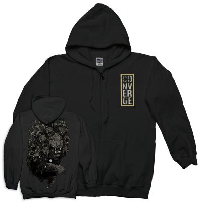 Lion Zip Up Sweatshirt (Black)