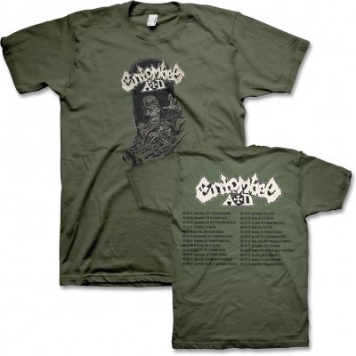 Entombed AD - 2015 US Tour T-Shirt (Military Green)