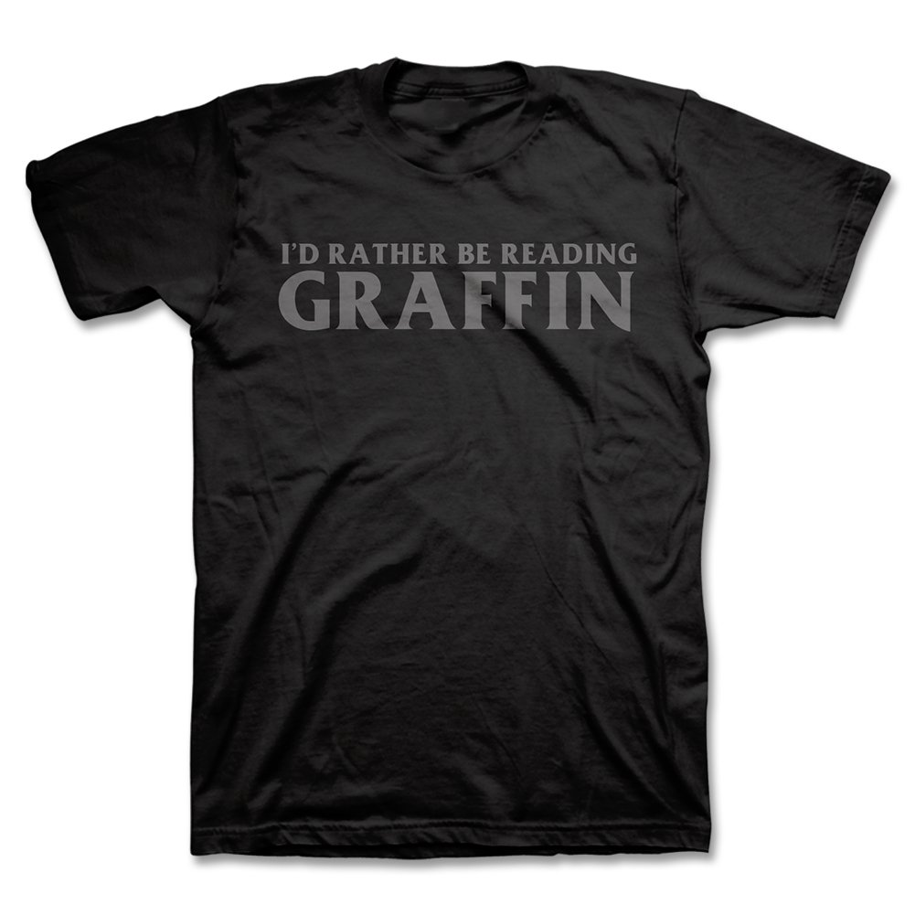 IMAGE   I'd Rather Be Reading T-Shirt (Black)