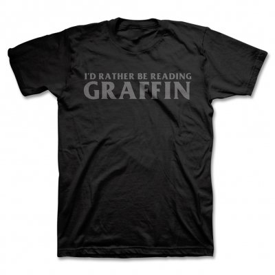 I'd Rather Be Reading T-Shirt (Black)