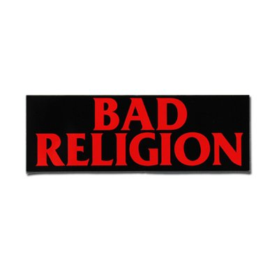 logo sticker 3 x 9 shop the bad religion online. Black Bedroom Furniture Sets. Home Design Ideas