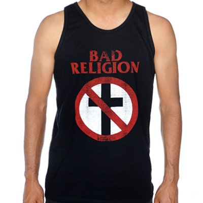 Bad Religion - Distressed Cross Buster Tank Top (Black)
