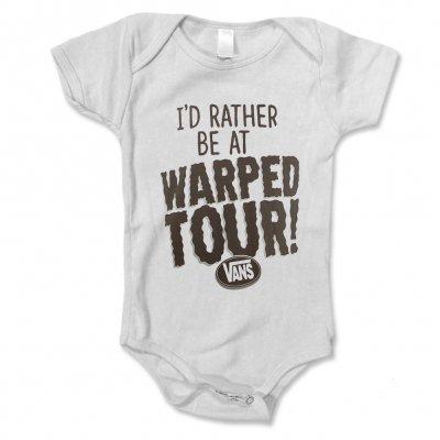 Vans Warped Tour - I'd Rather Be At Warped Tour Onsie