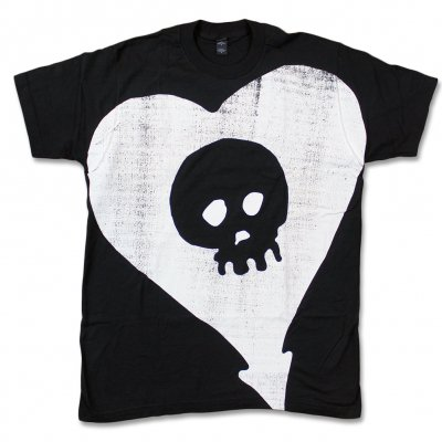 alkaline-trio - Oversized Distressed Heartskull Tee (Black)