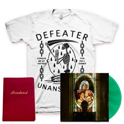 defeater - Abandoned LP (Coke/Transparent Green Vinyl) + Unanswered Skeleton T-Shirt + Deluxe Lyric Book
