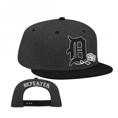 Defeater - Defeater D Logo Snapback Hat (Charcoal/Black)