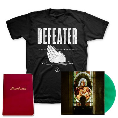 defeater - Abandoned LP (Coke/Transparent Green Vinyl) + Drowning Hands T-Shirt + Deluxe Lyric Book