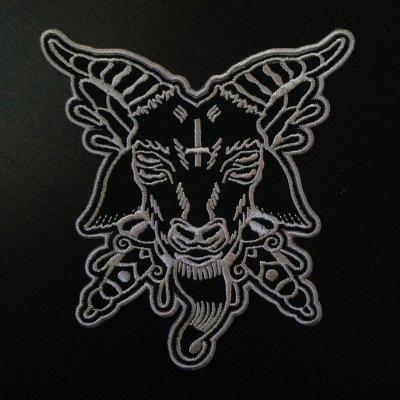 ACxDC - Goat Patch (Grey - 4 x 4)