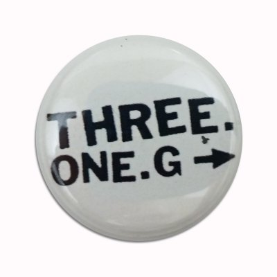 "three-one-g - Three One G 1"" Logo Button (White)"