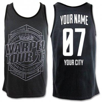 IMAGE   Warped Tour 2015 Custom Tank - Charcoal/Black