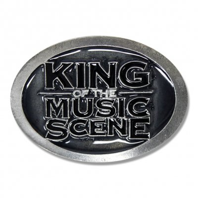 King Of The Music Scene Belt Buckle