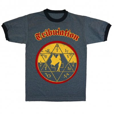 valhalla - Sabbath Ringer T-Shirt (Heather Grey/Black)
