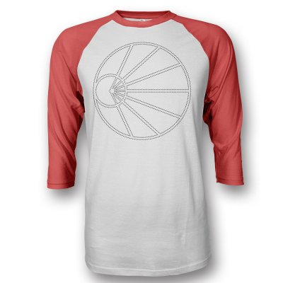 pianos-become-the-teeth - Dotted Line Logo Raglan (Red/White)