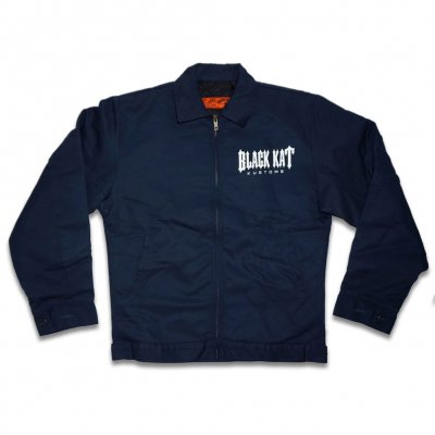 black-kat-kustoms - Unlined Racing Kat Work Jacket - Navy Blue