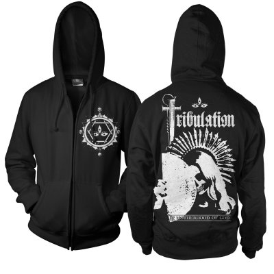tribulation - The Motherhood Of God Zip Up Sweatshirt (Black)