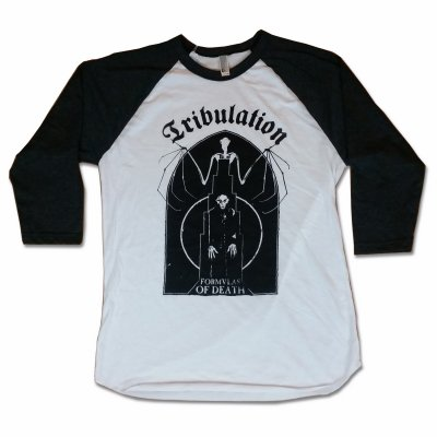 tribulation - Bat Raglan (Heather/White)