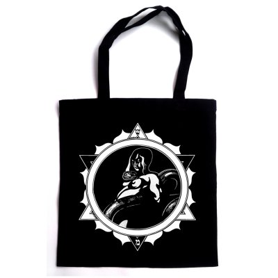 Snake Woman Tote Bag (Black)