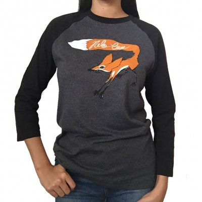 "neko-case - ""Scratchy The  Fox"" Baseball T-Shirt"