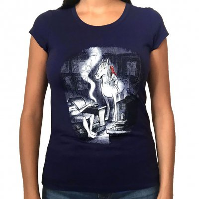 Neko Case - Horse Light Tee - Women's (Midnight Blue)