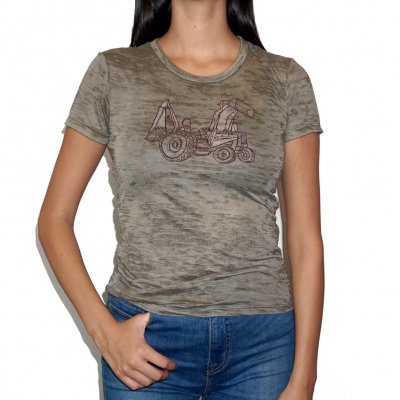 "neko-case - ""Backhoe"" T-Shirt, Brown"