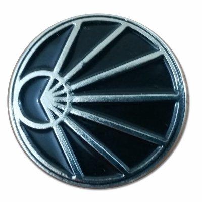 Silver Logo Enamel Pin