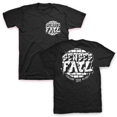 Senses Fail - Bricked Logo T-Shirt (Black)