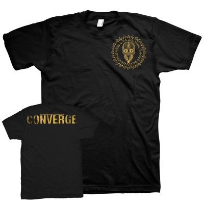 Converge - TOMBU Skull Badge Print T-Shirt (Black)