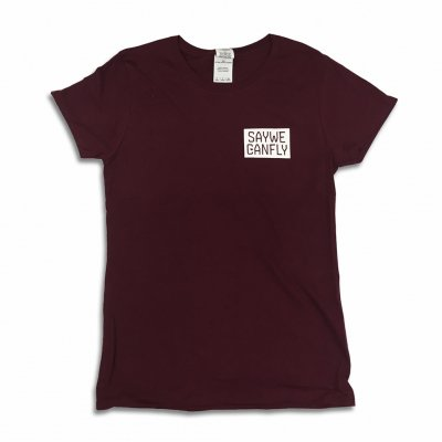SayWeCanFly - Box Logo Women's T-Shirt (Maroon)