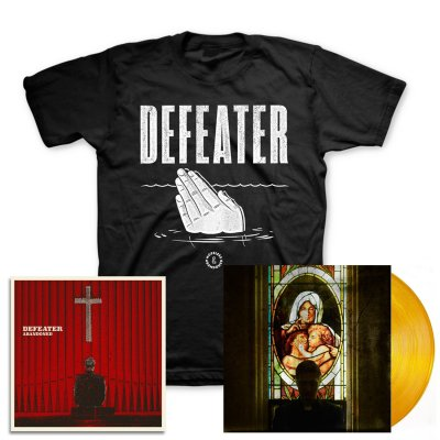 defeater - Abandoned LP (Coke/Transparent Orange) & Drowning Hands T-Shirt