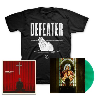 defeater - Abandoned LP (Coke/Transparent Green) & Drowning Hands T-Shirt