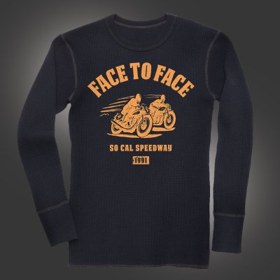face-to-face - Speedway Longsleeve Thermal (Black)
