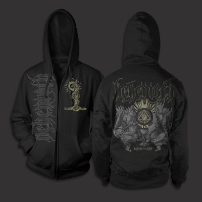behemoth - Messe Noire Zip Up Sweatshirt (Black)