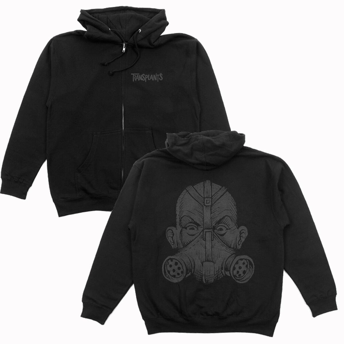 IMAGE | Gas Mask Zip Up Sweatshirt (Black)
