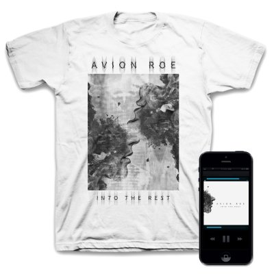 Avion Roe - Into the Rest Digital EP + Face T-Shirt (White) Bundle