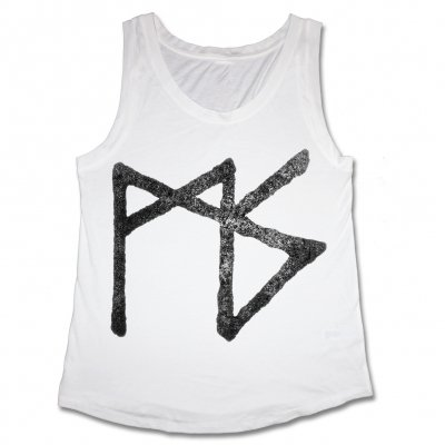 Matt Skiba - Women's Rune Muscle Tank (White)