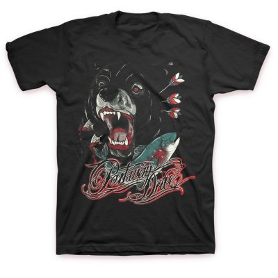 Parkway Drive - Bear And Salmon T-Shirt (Black)
